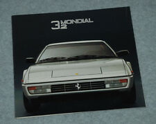 Original Ferrari Factory Folder No Brochure MONDIAL 3,2   388/85 - 5M/9/85