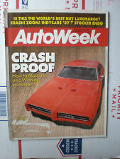 Autoweek Magazine November 30, 1987- How To Muscle In On A Winning Investment