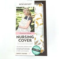 Bebe Au Lait Blume Nursing Cover Cotton White and Gold-  One Size