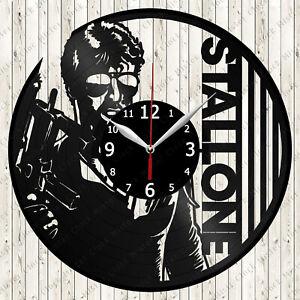 Sylvester Stallone Vinyl Record Wall Clock Decor Handmade 4898