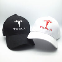 Cool Car TESLA Motor Hat Trucker Mesh Baseball Cap Trendy Model Adjustable Black