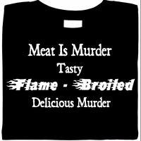 funny shirt, Meat Is Murder Shirt, Bar-B-Que, funny shirt saying
