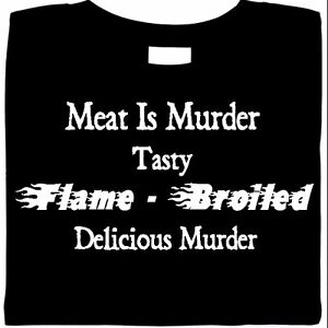 funny shirt, Meat Is Murder Shirt, Bar-B-Que, funny shirt saying