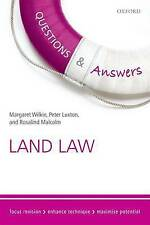 QUESTIONS AND ANSWERS: LAND LAW., Wilkie, Margaret & Peter Luxton & Rosalind Mal