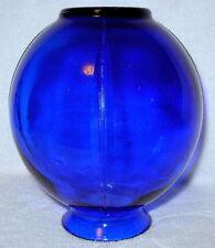 """Vintage Cobalt Blue Depression Glass 5"""" Globe Sphere Bud Vase"""