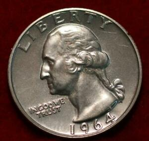 Uncirculated 1964 Philadelphia Mint Silver Washington Quarter