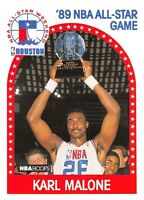"1989-90  KARL MALONE - Hoops ""All Star"" Basketball Card # 116 - All Star"
