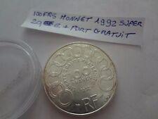 100frs argent 1 pieces  1992 jean monnet