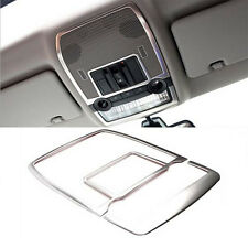 2008-2014 For BMW X6 E71 Front Inner Reading Lights Lamp Cover Trim Steel 2pcs