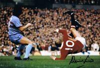 Signed Denis Law Manchester United Autograph Photo Scotland