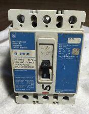 CUTLER HAMMER 30 AMP 3 POLE CIRCUIT BREAKER EHD3030L  480 VAC