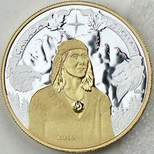 2018 $25 1 oz Silver Gold Plated Piedfort 250th Anniversary of Tecumseh's Birth