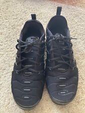 Size 12 - Nike Air VaporMax Plus Triple Black 2018. Pre-Owned TN