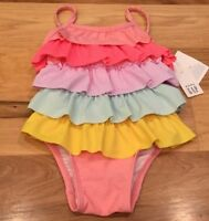 Baby Gap Girls 18-24 Months One-Piece Bright Ruffle Swimsuit. Nwt