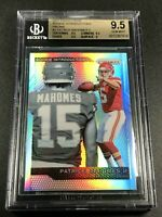 PATRICK MAHOMES 2017 PANINI PRIZM ROOKIE INTRODUCTIONS SILVER REFRACTOR BGS 9.5