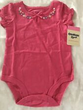 OshKosh Bgosh Girls Bodysuit Size 9 Months Floral Accent...
