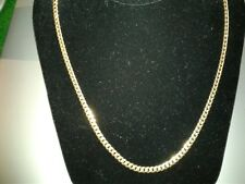 14 Kt yellow gold curb link chain 24 inch