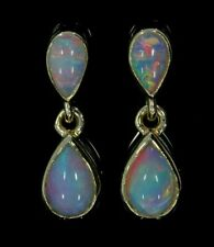 9ct Yellow Gold 1.60ct Opal Pear Drop/Dangle Earrings