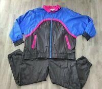 Vintage 90's Womens Windbreaker & Pants Track Suit Nylon Bi Gear Sports sz 22W