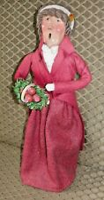 Byers Choice Lady Caroler with Basket of Apples 1995