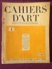 Cahiers d'art N°4 1929 Raoul Dufy Fernand Léger Le Corbusier Jeanneret