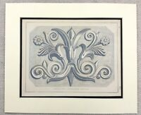 1859 Print Grecian Architecture Detail Ancient Greek Design Antique Original