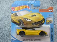 Hot Wheels 2018 #098/365 Corvette C7 Z06 AMARILLO FACTORY fresca NUEVO Fundición