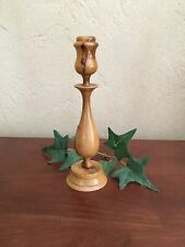 """Olivewood Candleholder from Israel 6"""" Tall Handmade Holy Land Wood Candle Stick"""