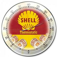 SHELL Motor Oil THERMOMETER Gasoline V8 Gas Pump Werkstatt USA Benzin Schild