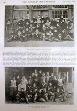 1896 illustrated newspaper w Team Photos HARVARD & YALE early College Football