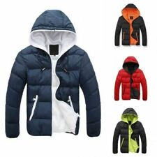 VEZAD Store Down Jacket Men Boys Waterproof Casual Warm Hooded Winter Zipper Coat Outwear