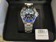 Steinhart Ocean One 39mm Premium Ceramic GMT Automatic Diver Watch Blue Blk 500m