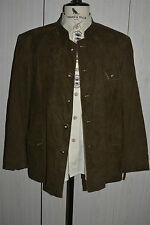 LODEN FREY Amaretta Faux Suede Leather Blazer JACKET Bavarian Tirol men 40 42 ML