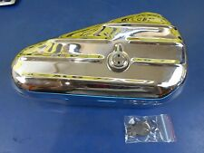 CHROME KIDNEY OVAL STYLE TOOL BOX W/ KEY HARLEY DAVIDSON & CHOPPER PN 64205-40C