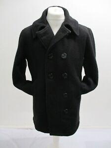 US NAVY PEA COAT, Genuine Vintage Original 1950s, 60s, Size 40, 8 Buttons, 57cmW