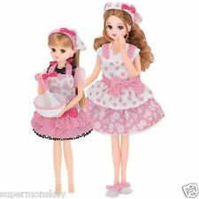 TAKARA TOMY JAPAN LICCA DOLL MOTHER AND DAUGHTER BAKING CLOTHES SET_ LA83417