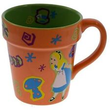 Disney Parks ALICE IN The GARDEN Wonderland Cheshire CAT Flower Pot Mug NWT New