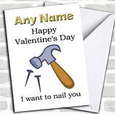 Joyeuse st-valentin je veux Nail vous st-valentin personnalisé Carte