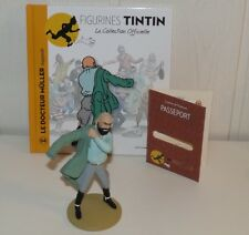 COLLECTION FIGURINES TINTIN MOULINSART 2013 DOCTEUR MÜLLER PAYS OR NOIR HERGE