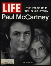1971 PAUL & LINDA McCARTNEY Vintage Magazine *COVER ONLY* - Beatles