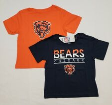Chicago Bears 2T Toddler Tee Shirt Combo Pack - Orange | Blue | NWT
