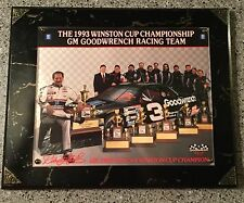 1993 Dale Earnhardt Six Time Champion Hero Card Plaque