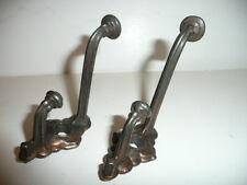Two Vintage Fancy Cast Iron Hall/Closet Coat/Hat Hooks, Antiques,Interior Decor.