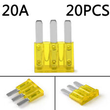 20Pcs Micro3 Fuse Automotive ATL 20A 3 Prong Micro Blade Fuse For Ford Focus