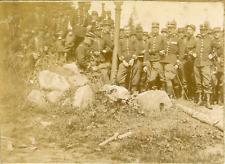 France, Vosges, Militaires au repos ca.1899 vintage citrate print Vintage citrat