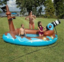 "Pirate Ship Sprayer Pool Inflatable Swimming Kid Family Novelty 130"" x 85"" x 75"""