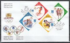 Sri Lanka, Scott cat. 1481-1484. Athens Olympics issue on a First day cover.
