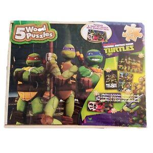 Nickelodeon Teenage Mutant Ninja Turtles 5 Wood Puzzle & Storage Wood Box