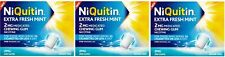 NiQuitin Extra Fresh Mint Chewing Gum 2mg 3x Boxes of 200 That's 600 Gums SEPT19