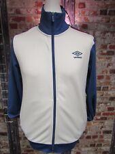 Umbro Mens Retro Track Jacket White & Blue  Brand New with Tags Size Medium